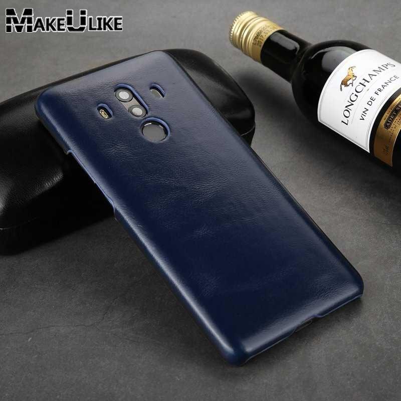 MAKEULIKE Mate10 Pro Caso de Volta Para O HuaWei Companheiro 10 Pro Capa Shell Couro Genuíno Saco Do Telefone Capas Para HuaWei Companheiro 10 Pro Caso
