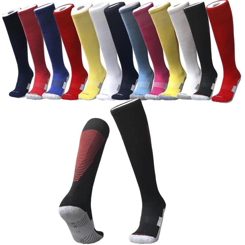 Adult Soccer Socks Children Sock Knee Towel Thick Bottom Men Soccer Non-slip High Cylinder Sports Socks Og-05