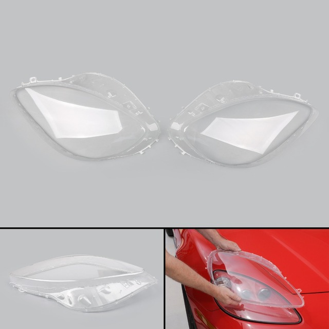 Areyourshop Car 1Pair Left&Right Head Light Lenses Replacement Covers For  Corvette C6 2005 2013 Clear Car Auto Styling Covers-in Car Headlight