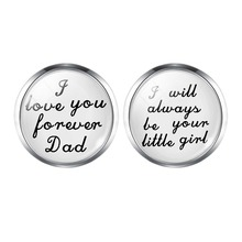Wedding Cufflinks Custom Men Father Brother Groomsman Gift The Best Is Yet To Be Grow Old with Me
