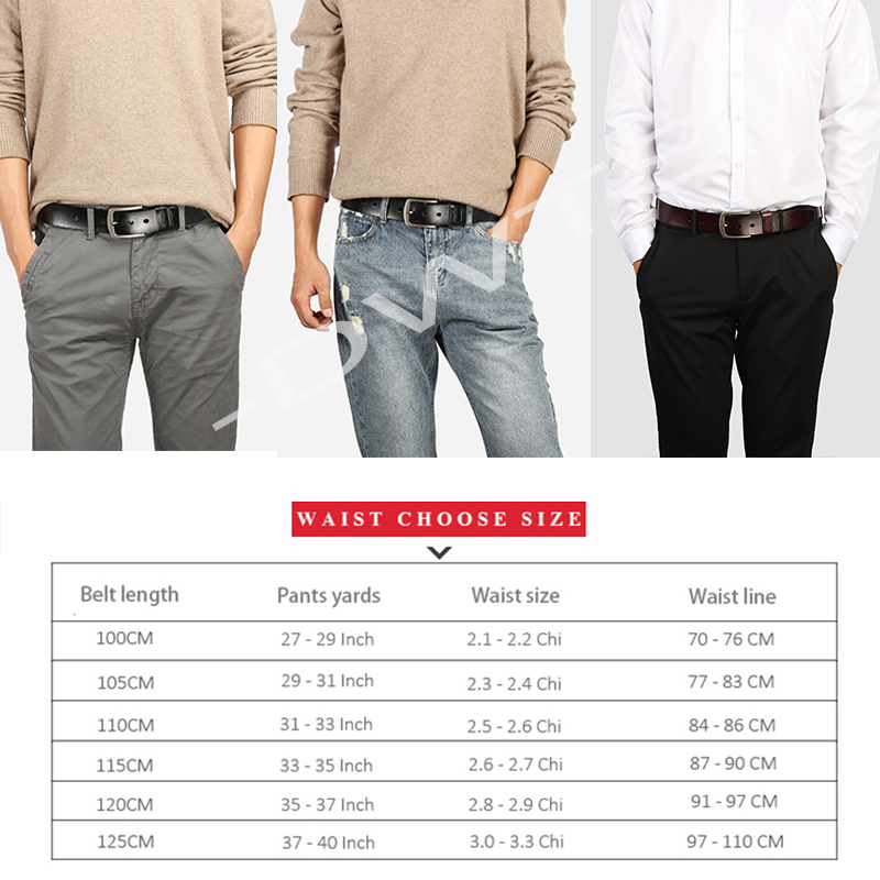 [DWTS]men's belt leather belt men male genuine leather strap luxury pin buckle fancy vintage jeans cintos masculinos 5