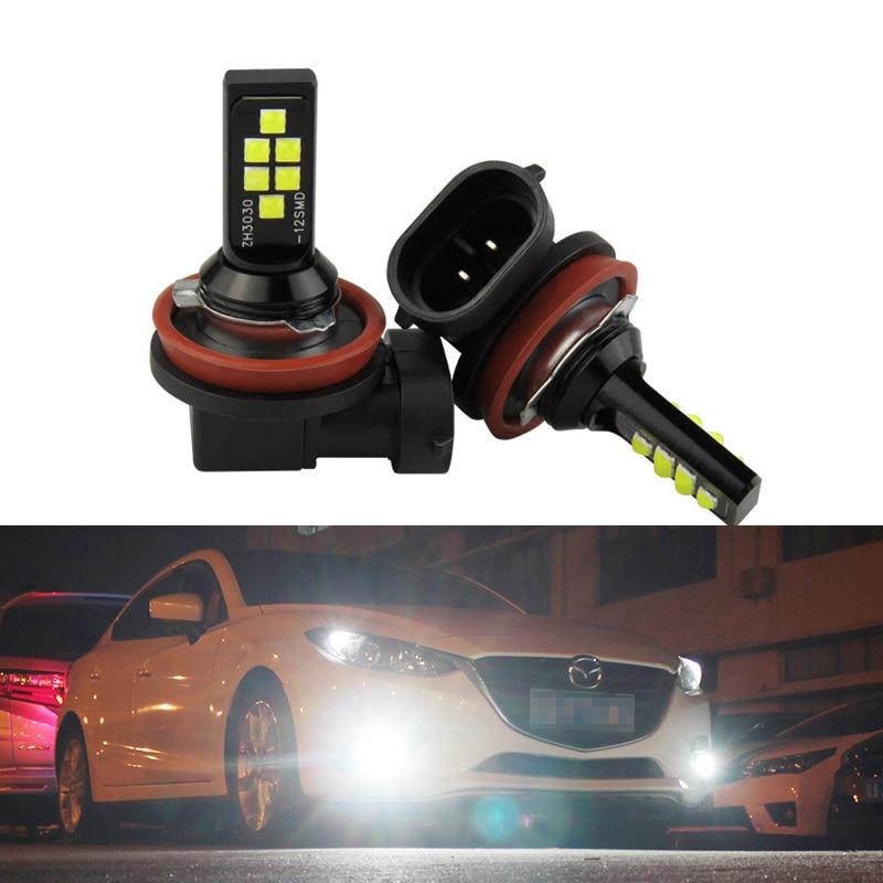 LED H8 H11 9005 9006 H3 H4 H7 Car Front Fog Light Bulbs 12V 12W 3030