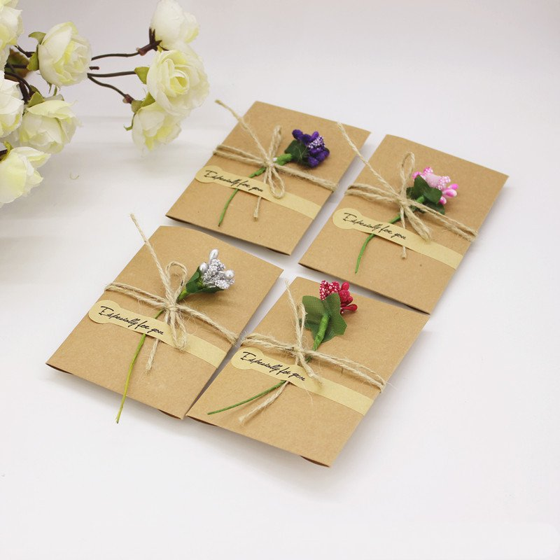 Wedding Gifts For Invitees: Aliexpress.com : Buy Personalized Kraft Greeting Card For