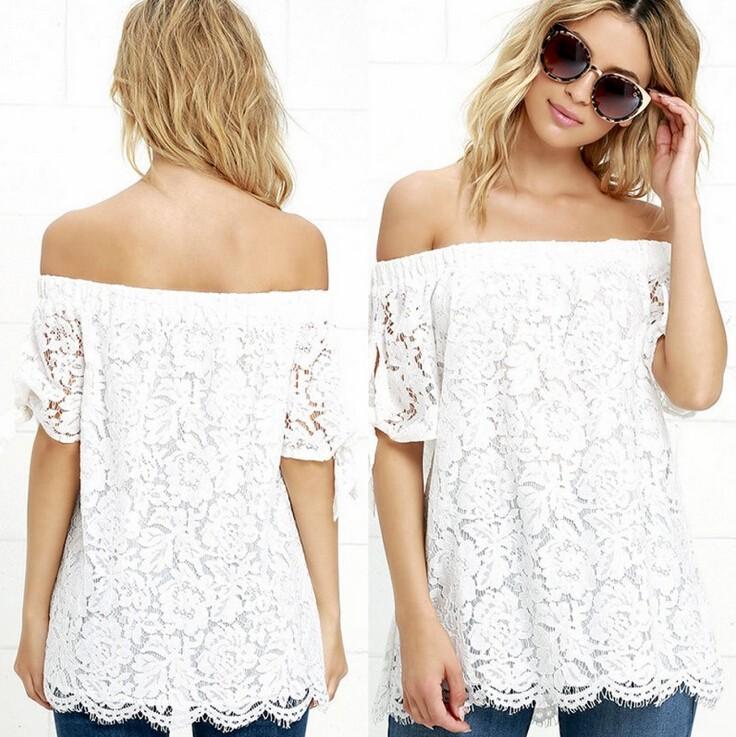 HTB1JezbJVXXXXbuXFXXq6xXFXXXf - Women Blouses Lace Crochet Shirts Fashion Summer Sexy Casual