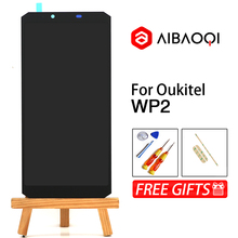 AiBaoQi חדש מקורי 6.0 אינץ מגע מסך + 2160x1080 LCD תצוגת החלפת עצרת Oukitel WP2 אנדרואיד 8.0 טלפון