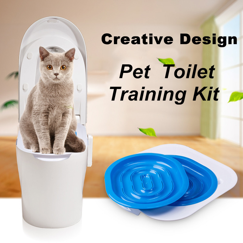 Creative Cat Toilet Trainer Pet Indoor Cat Litter Tray Cat Toilet Training Kit Supply For Cats Puppy Pet Training Accessories 翻轉 貓 砂 盆