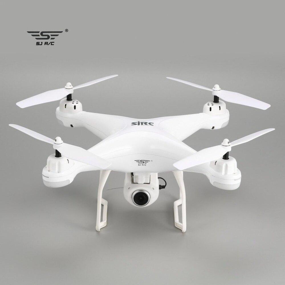 SJ R/C S20W FPV 720 P 1080 P Caméra Selfie Maintien D'altitude Drone Headless Mode Retour Automatique Décollage /d'atterrissage Hover GPS quadcopter rc