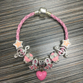 2017 European Fashion butterfly Charm Bracelet & Bangle Fit original Bracelets For Women Diy Jewelry Valentine's Day Gift BL196