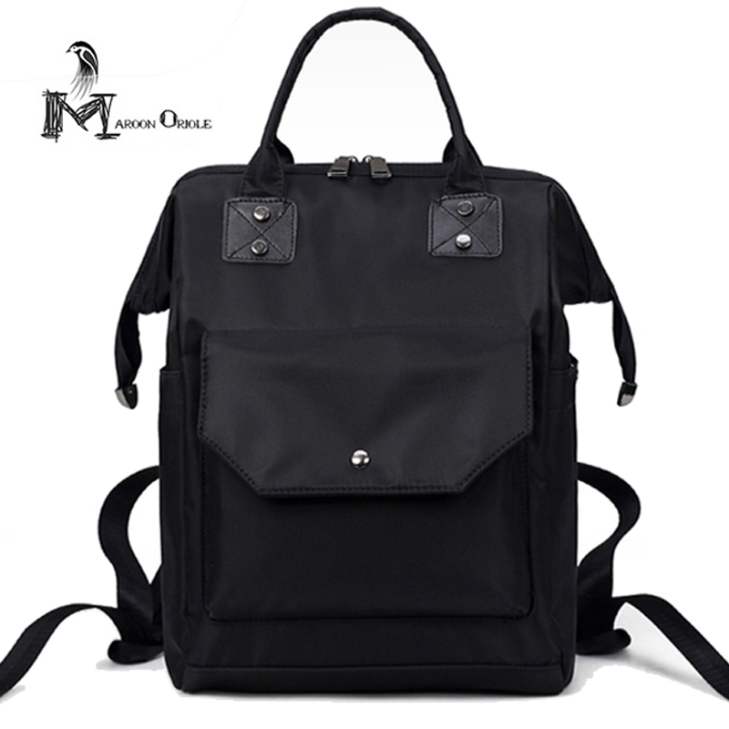 Waterproof nylon bag women black nylon backpack student college waterproof nylon backpack for school MAC air bag 2017 fashion women waterproof oxford backpack famous designers brand shoulder bag leisure backpack for girl and college student