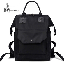 Водонепроницаемый нейлоновая сумка женская черный нейлоновый рюкзак студента колледжа водонепроницаемый нейлоновый рюкзак для школы Mac Air сумка