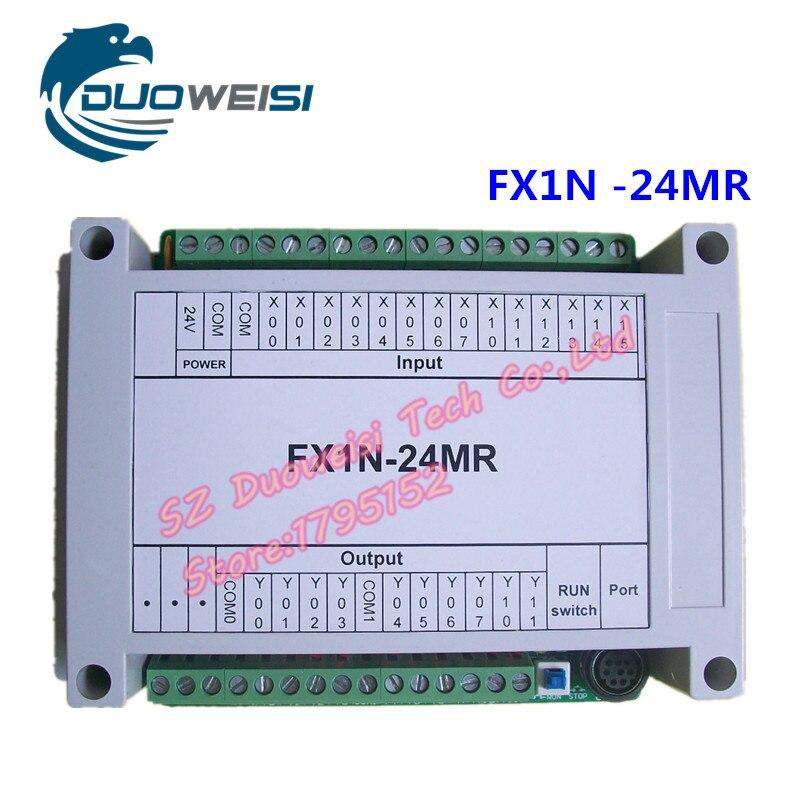 PLC IPC board microcontroller control board relay control board PLC FX1N-24MR with housing FX1N 24MR plc srt2 od04
