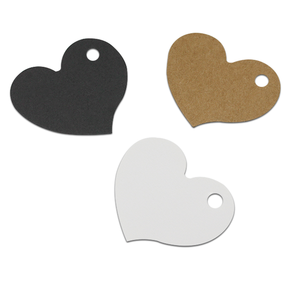 4.5*4cm Heart Shape Kraft Paper Tags Blank Gift Tags Label Marks Decorations DIY Party Luggage Hang Tag Wholesale 3000Pcs/Lot