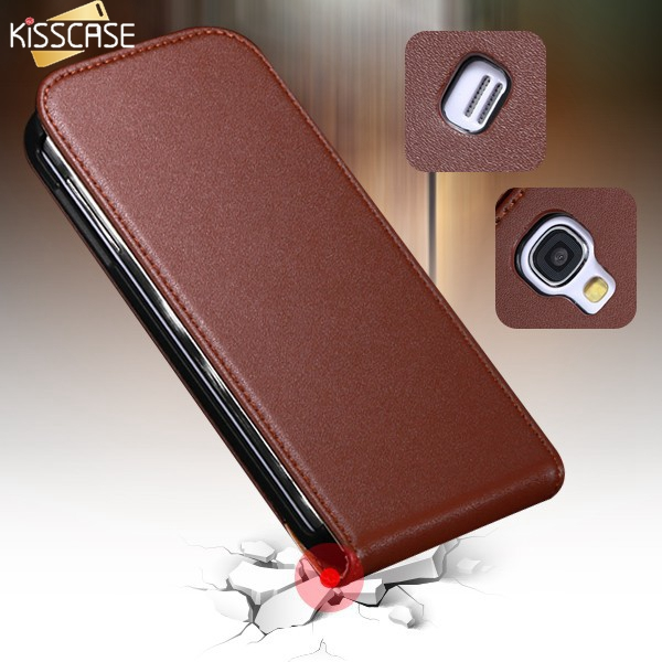 Kisscase el cuero real de lujo case para samsung galaxy s4 s iv i9500 cubierta d