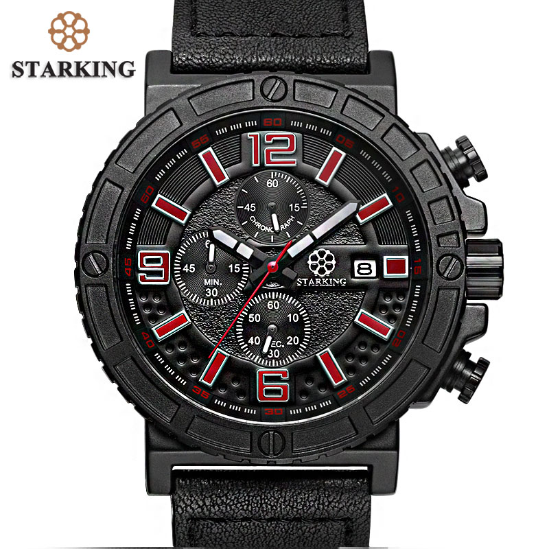 STARKING Splendid Original Brand Watches Relogio Men Luxury Fashion Chronograph Outdoor Sport Watch Male Quartz Hodinky