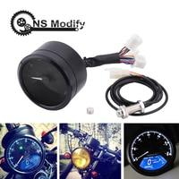 NS Modify Universal Motorcycle LED Odometer Tachometer Gauge Gear Indicator LED Digita Indicator Light Fits For 1 4 Cylinders