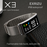 EXRIZU X3 Color Display IP68 Waterproof Bluetooth Smart Wristband Heart Rate Blood Pressure Monitor Smart Band