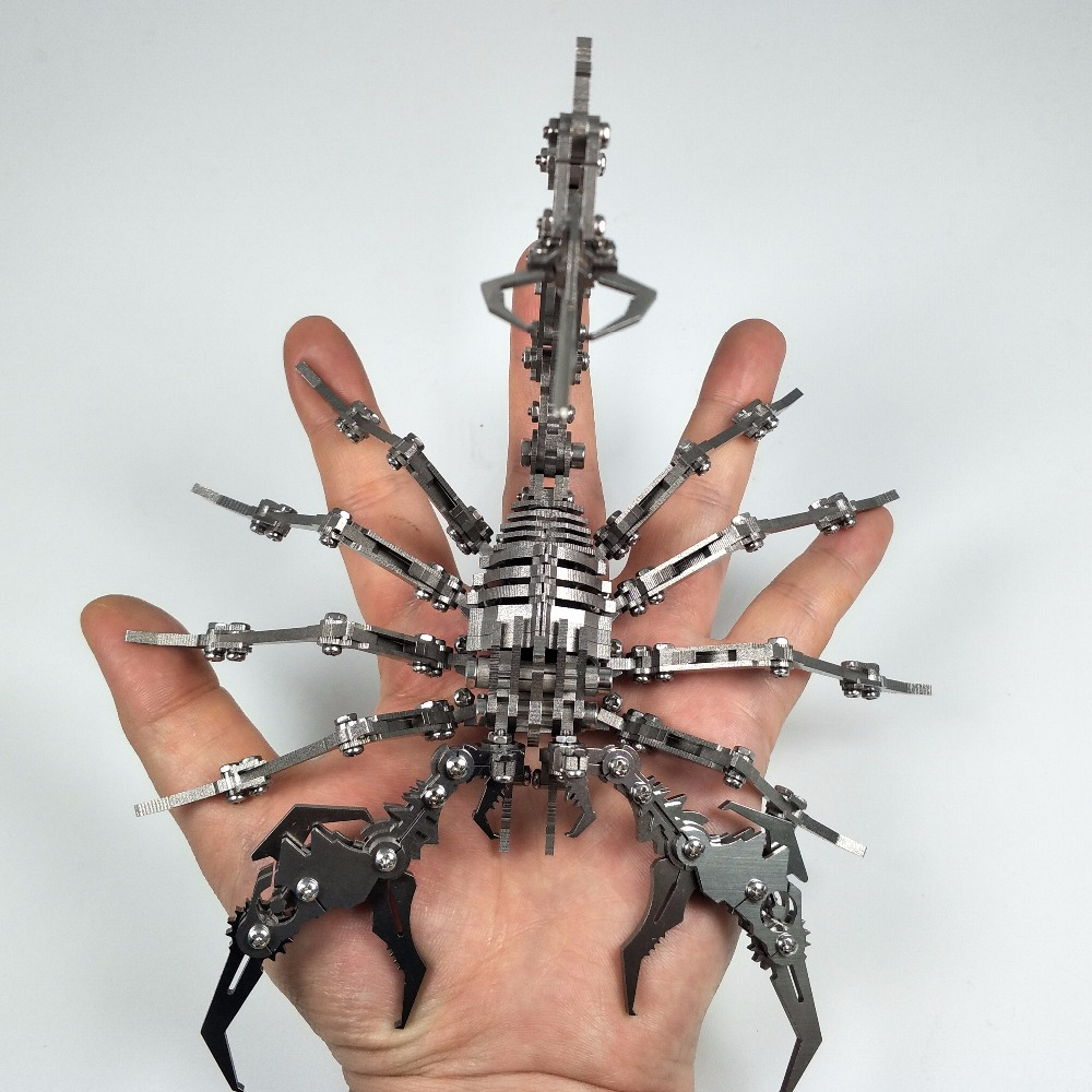 3 FÜR 2 Skorpion 3D Stahl Metall DIY Joint Mobilität Miniatur Modell Kits Puzzle Spielzeug Kinder Junge Spleißen Hobby Gebäude-in Modellbau-Kits aus Spielzeug und Hobbys bei  Gruppe 3