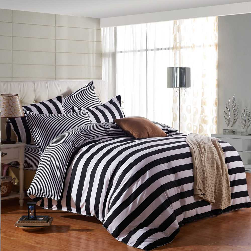 Modern printed Duvet / Quilt Cover set Single Double Queen King Sizes yellow gray blue black bed linens set 3 pcs