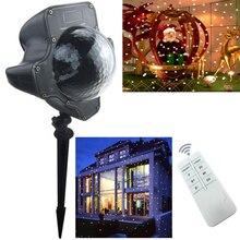 LED Водонепроницаемый Открытый Этап Лазерный Свет Хэллоуин/Рождество LED Проекторы лампа Рождество Фея партия настенные светильники