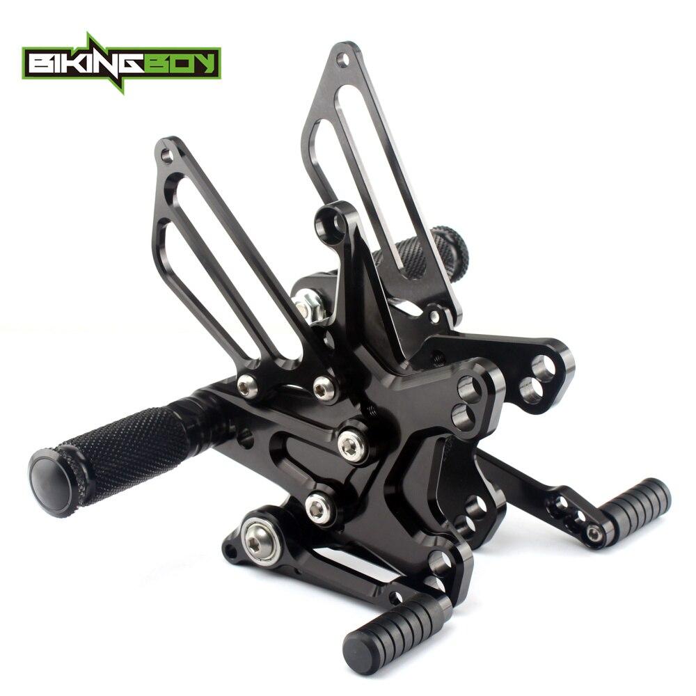 Adjustable CNC Billet Rider Rear Sets Foot Pegs Footrests Rearsets For Kawasaki ZX10R ZX10 R 2011 2012 2013 2014 2015 11-15