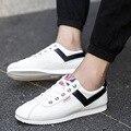 Новый 2017 Мужчины Обувь Черный/Белый Вождение Случайные Шнуровке Холст Мужчины Квартиры Спорт Дышащий Сапата Hombre Sapato мужской Обуви