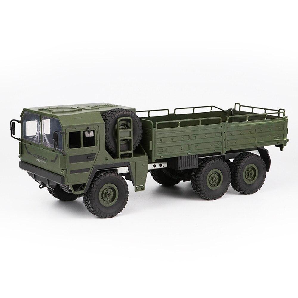 軍用トラック1/16 2.4G 6WDロッククローラーレーシングおもちゃオフロードRTRリモートコントロールRCカーのおもちゃ子供のための子供のギフトウィリージープ1 10