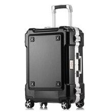Толстые алюминий сплав сумки на колёсиках стильный чемодан mute МНЛЗ интернат пароль коробка Большой ёмкость