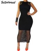 Fashion 2016 Sexy Red Black White Mesh Woman Dress Sexy Club Dress Backless Bodycon Night Club