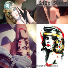 LC806/New 2015 Unique women design temporary tattoo of body waterproof large sticker big