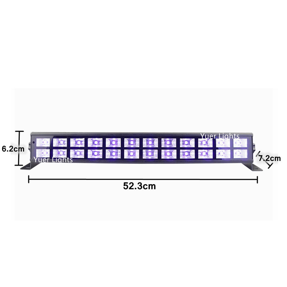 Image 2 - 24 LEDs Disco UV Bar Lights Party Dj Lamp UV Color LED Wall Washer Lights For Christmas Laser Projector Stage Wall Washer Lights-in Stage Lighting Effect from Lights & Lighting on
