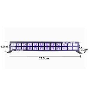 Image 2 - 24 LEDs Disco UV kolumna świetlna Party Dj lampa UV kolor LED naświetlacz liniowy na projektor laserowy na boże narodzenie etap naświetlacz liniowy