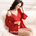 yomrzl L809 new arrival summer sexy lace women's robe long sleeve sleepwear indoor clothes sexy lingerie