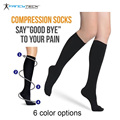 Hot Sell Slimming Stockings Blood Circulation Promotion Slimming Compression Socks Anti-Fatigue Comfortable Solid Color Socks