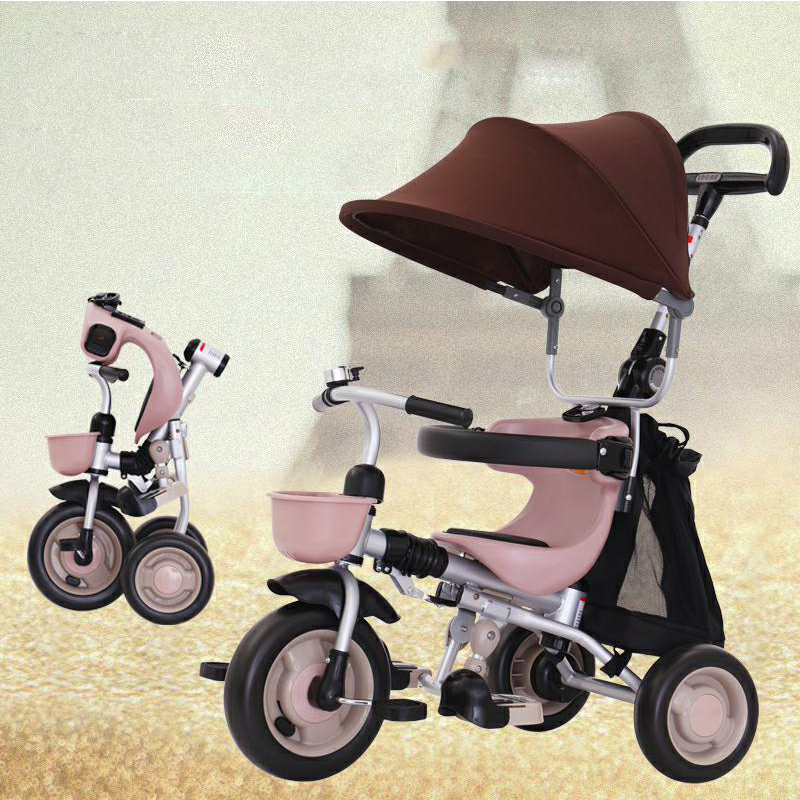 Hot Sale to Russia children bicycle Folding light baby carriage Can be on the plane kids bicycle stroller 6 months -5 years old цена