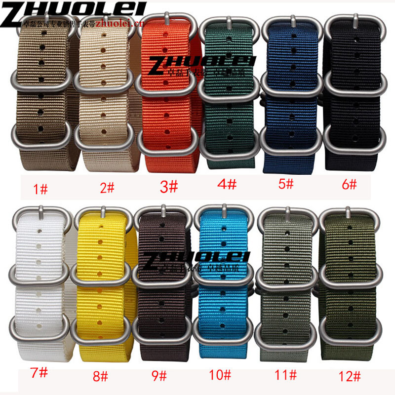 18mm 20mm 22mm 24mm NEW High Quality Nato Watchband Strap Nylon Divers Brushed rings with PVD black buckle for Sports watces new high quality straps for nato 18mm 19mm 20mm 21mm 22mm 23mm 24mm 26mm black green sports leisure woven nylon watch straps