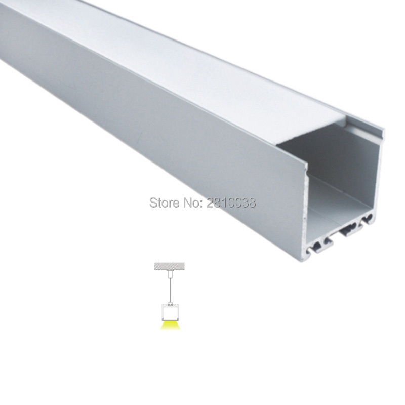 300 x 2M Sets/Lot 35mm wide U type aluminium led profile housing and 6000 series led channel for suspending lights 50 x 2m sets lot office lighting led profile housing 75 mm tall u type led aluminum extrusion for suspension lights