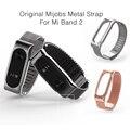 Оригинал Mijobs Металлический Ремешок Группа Для MiBand 2 Браслеты Из Нержавеющей Стали браслет Для Xiaomi Mi Группа 2 Заменить Для Mi Группа 2