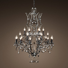 Candle Crystal Pendant Chandelier