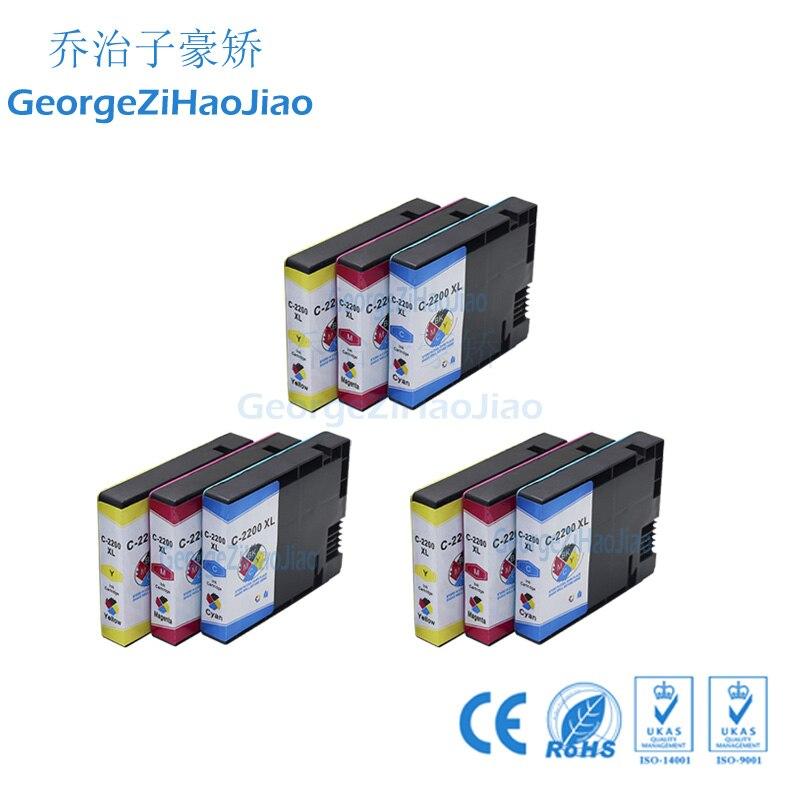 2200XL 9PCS CMY Compatible PGI-2200 PGI2200 2200XL Ink Cartridge for Canon MAXIFY MB5020 MB5320 inkjet Printer2200XL 9PCS CMY Compatible PGI-2200 PGI2200 2200XL Ink Cartridge for Canon MAXIFY MB5020 MB5320 inkjet Printer