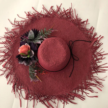 ZJBECHAHMU Casual Floral Vintage Straw Sun Hats For Women Summer Caps Outdoor holiday shade beach folding straw hat  New fedoras