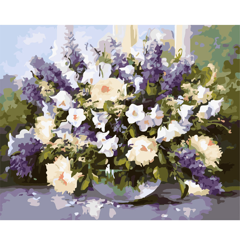 Frameless Oil Painting By Numbers Christmas Gift On Canvas DIY Handpainted Painting Coloring By numbers Decor Lavender picture