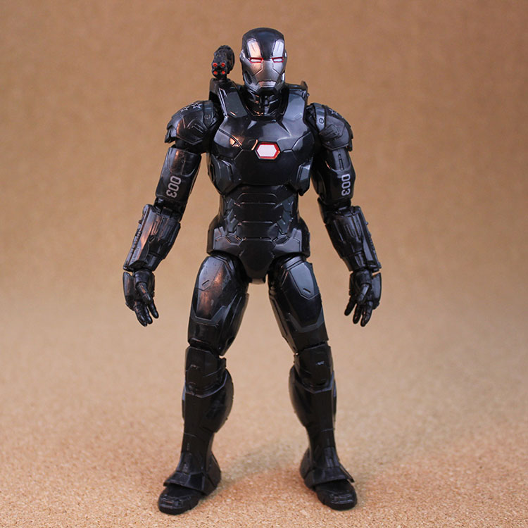 17cm/6.5in War Machine Action Figure Captain America Civil War Uniform Marvel Superhero Toy Model Black Iron Man Free shipping captain america civil war bobble head pvc action figure collectible model toy doll 10cm