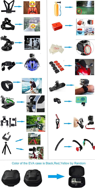 Husiway-Accessories-kit-for-Gopro-Hero-5-Session-Gopro-Hero-6-Black-Xiaomi-Yi-4K-for (3)