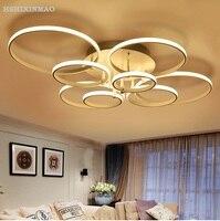 Modern Minimalist Living Room Ceiling Lamps Ring Circle LED Acrylic Art Bedroom Ceiling Lighting 90 260V