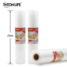 TINTON LIFE 25 см x 500 см рулонный вакуумный Термоупаковщик, пакеты для хранения продуктов, пакеты для хранения продуктов, Saran wrap