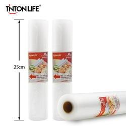 TINTON жизни 25 см x 500 см ROLLS вакуумный тепла герметик Еда SAVER сумки для хранения продуктов сумки Саран Обёрточная бумага