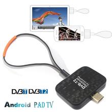 Spain Europe Micro USB OTG Terrestrial H.265/H.264 DVB-T2 Android Phone Pad Tuner Receiver TV stick Watch DVB T2 Live Channel
