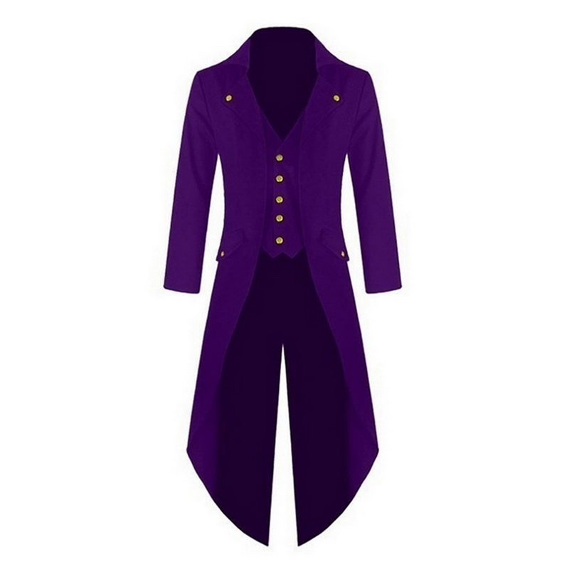 US $12.21 33% OFF|WENYUJH Men Vintage Suit Jacket Long Tuxedo Vintage Steampunk Retro Tailcoat Single Breasted Gothic Victorian Frock Coat Cosplay in