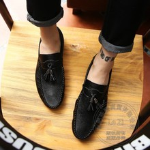 Repair Dough Men's Leather Moccasins Joker Club Hipster Shoes Loafer Men Drive Shoes Moccasin Recreational Promotion Bright