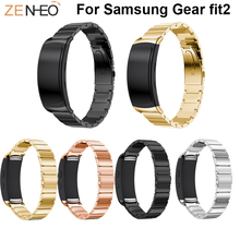 Stainless Steel Watch strap For Samsung Gear fit2 smart watch Bracelet wristband smart accessory For Samsung Gear fit2 Bands samsung gear fit2 яндекс переведет текст с картинки почта россии будет доставлять уведомления по e mail
